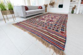 Kézi csomózású perzsa killim szumák szőnyeg 184x267cm