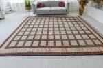 Kézi csomózású perzsa killim Szumák  selyem szőnyeg 200x300cm