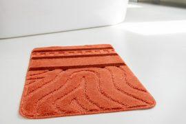 Fürdőszobaszőnyeg 1 részes terra hullámos 50x80cm