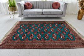 Kézi csomózású perzsa szőnyeg Beluch Buhara 196x134cm