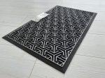 Modern silver black 44 geometry extra  gumis lábtörlő 45x75cm
