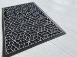 Modern silver black 54 geometry extra  gumis lábtörlő 45x75cm