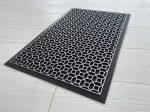 Modern silver black 77 geometry extra  gumis lábtörlő 45x75cm