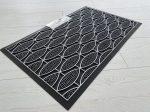 Modern silver Fish black geometry extra  gumis lábtörlő 45x75cm