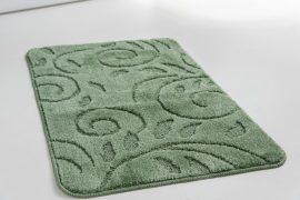 Fürdőszobaszőnyeg 1 részes zöld indás 50x80cm