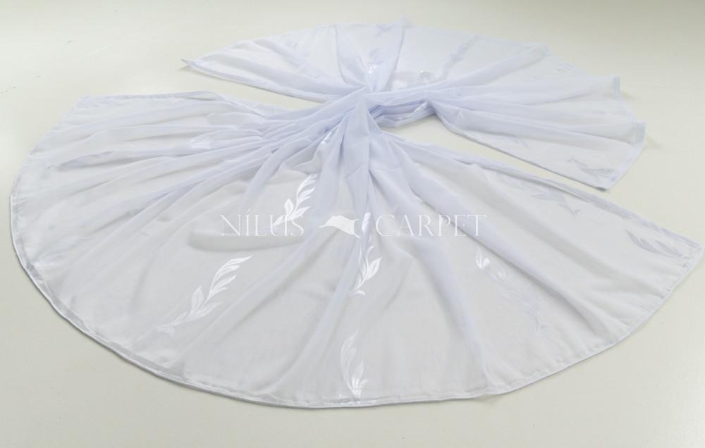 Kész függöny luxury fehér alapon indás ezüst virág 300x260cm