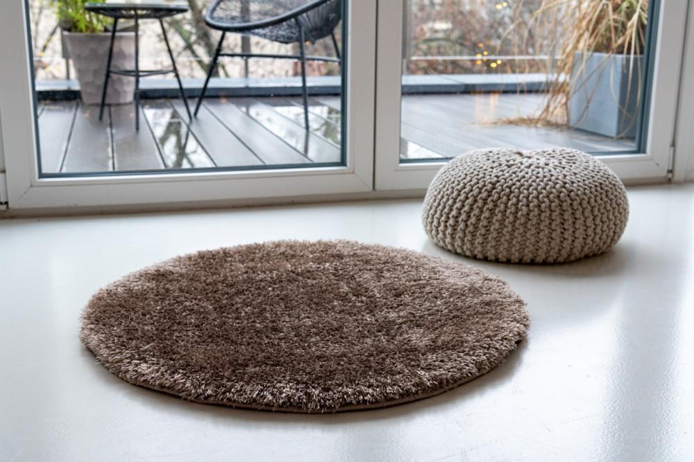 Super vizon shaggy szőnyeg 80cm kerek