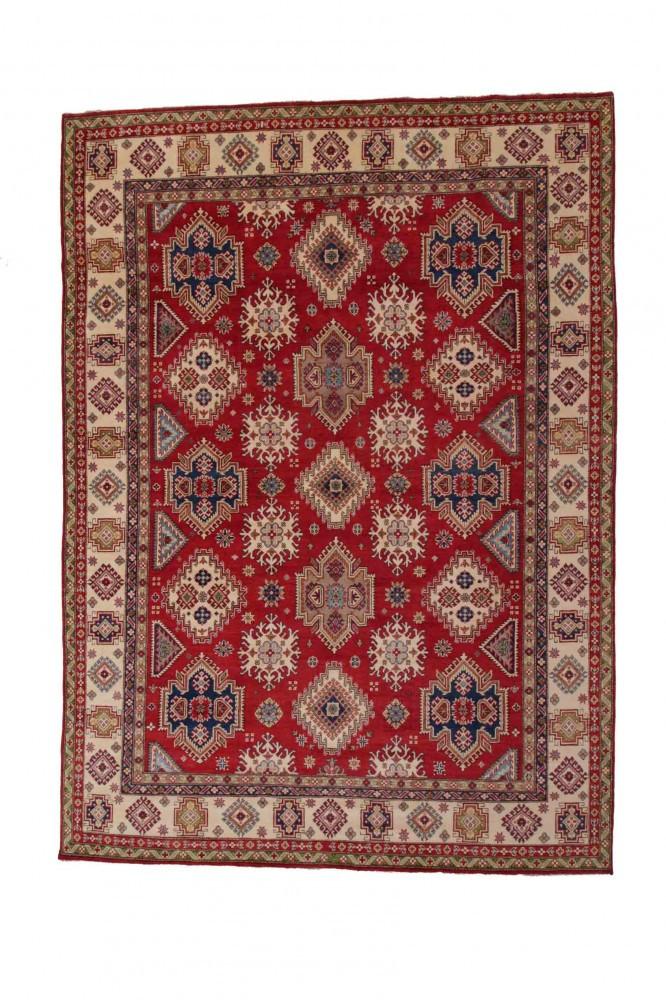 Kazak kézi csomózású gyapjú perzsa szőnyeg 259x362cm