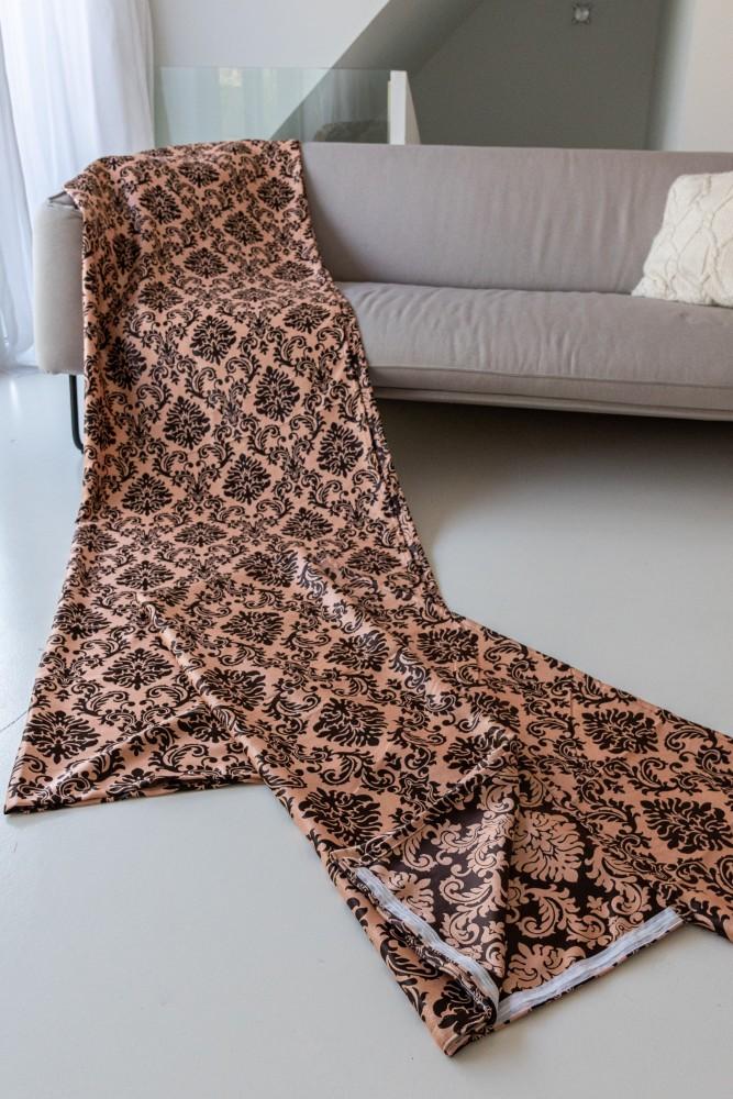 Luxury Kész Sötétítő barack barna 300x250cm függöny