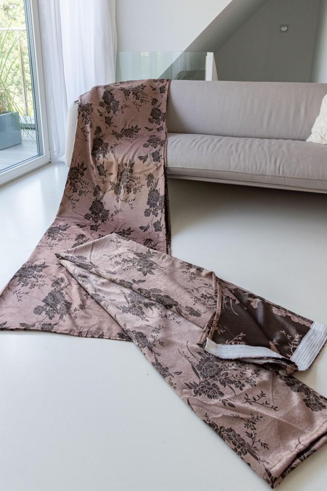 Luxury Kész Sötétítő barokk brown (barna-bézs) 300x250cm függöny