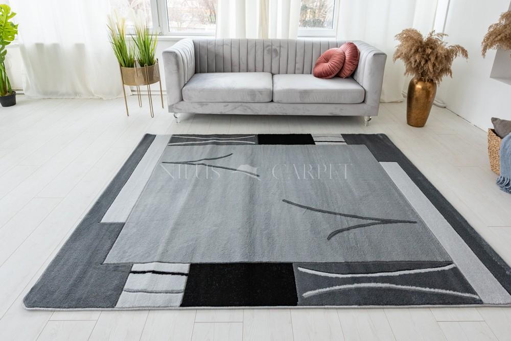 Beethoven gray (szürke) modern keretes szőnyeg 3db-os 60xszett