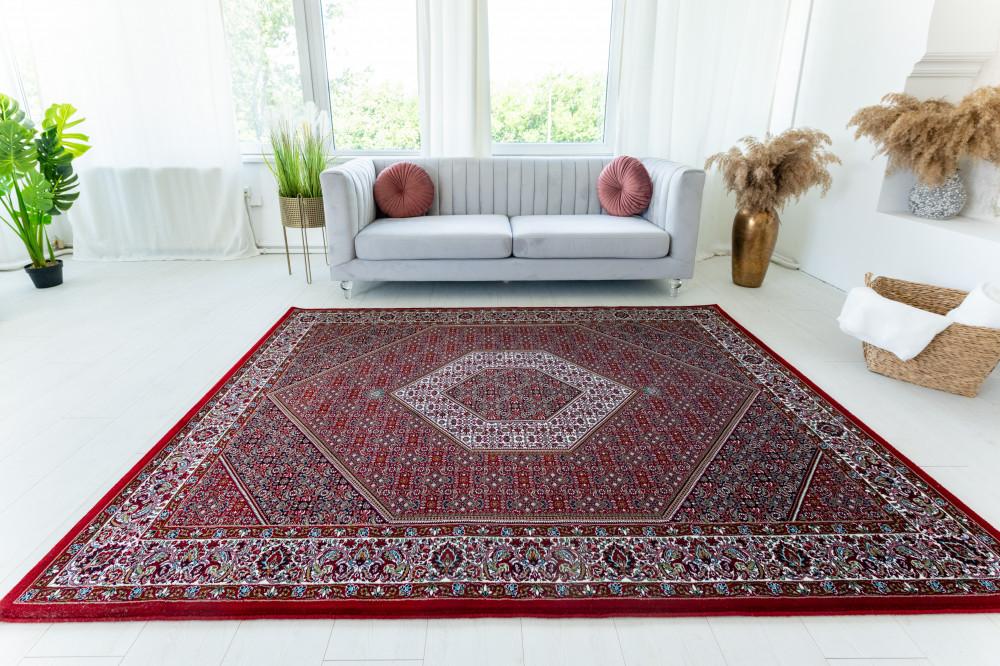 Bidjar Luxury Red (bordó)  Klasszikus szőnyeg 140x200cm