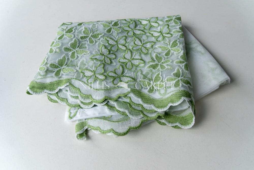 Kész luxury Brillant Zöld Lepkés függöny 300x260cm