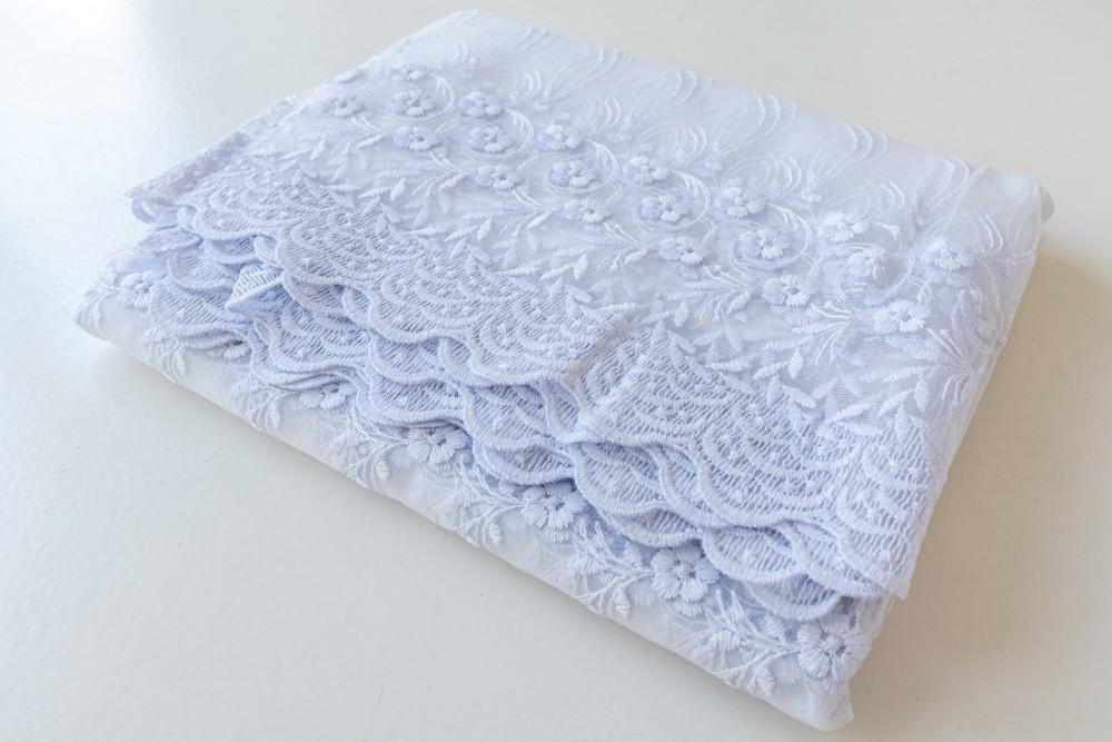 Kész luxury 59 kis virág brillant fehér 300x260cm függöny
