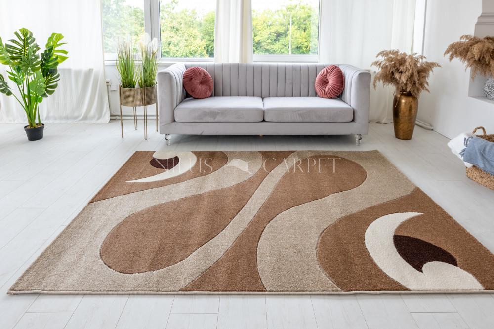 Charizma 8246 beige (bézs) pipás szőnyeg 200x290cm