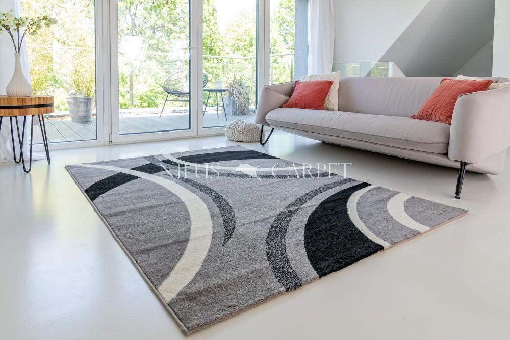 Charizma 8214 gray (szürke) kardos szőnyeg 160x230cm