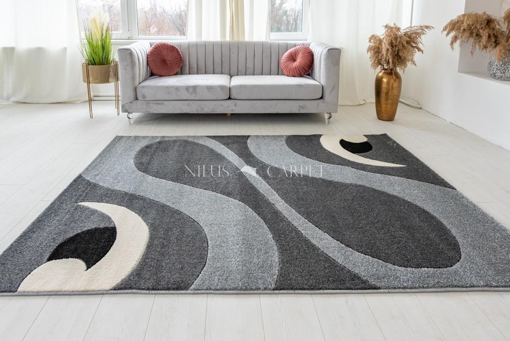 Charizma 8246 gray (szürke) pipás szőnyeg 60x220cm