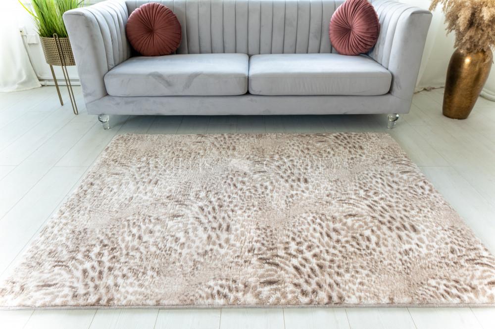 Damaskus plüss shaggy Leopárdos beige 40x70cm
