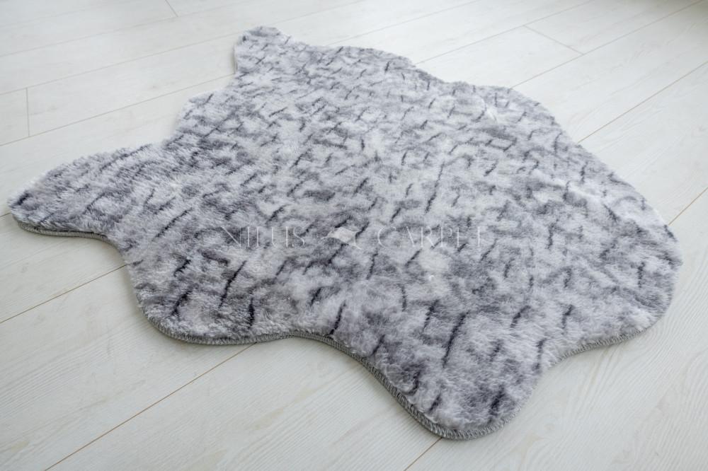Damaskus plüss shaggy 83 light gray poszt 60x110cm