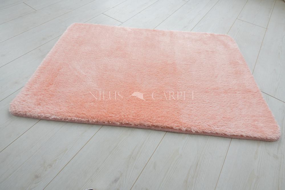 Damaskus plüss shaggy puder pink 60x110cm