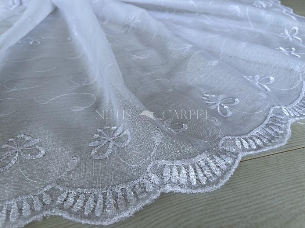 Kész függöny Felicity fehér vintage hímzett masnis 300x260cm