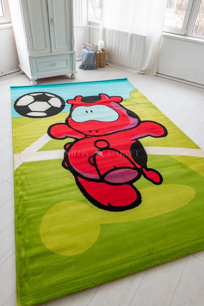 Gyerek szőnyeg red cow focis red 200x300cm