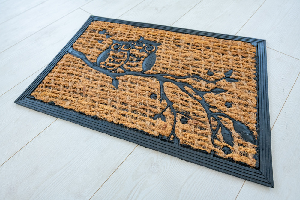 Kókuszrost Bagoly Gumis lábtörlő 40x60cm