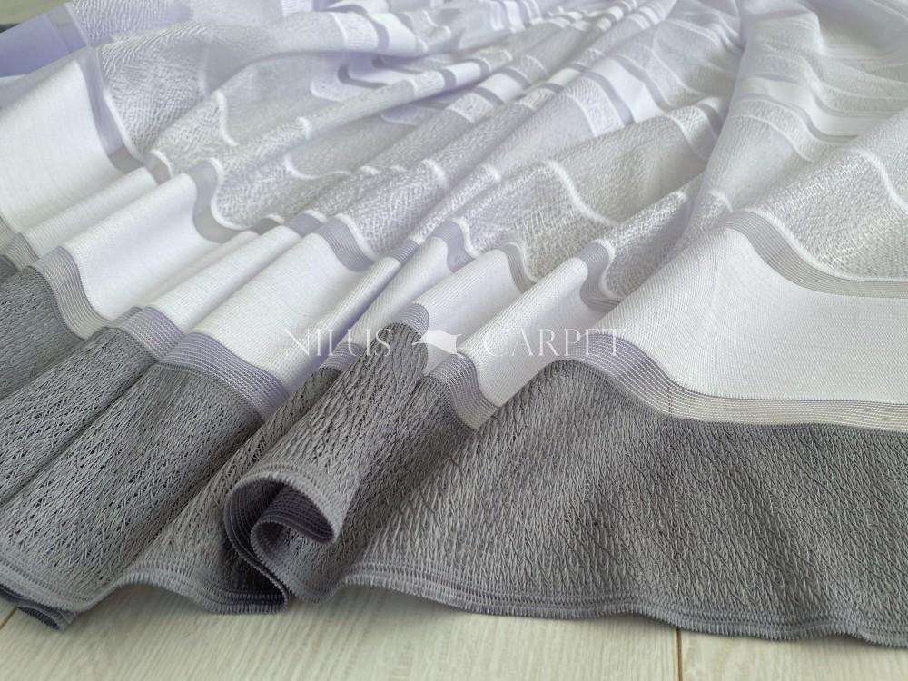 Kész függöny hófehér alapon 24 szürke 300x150cm