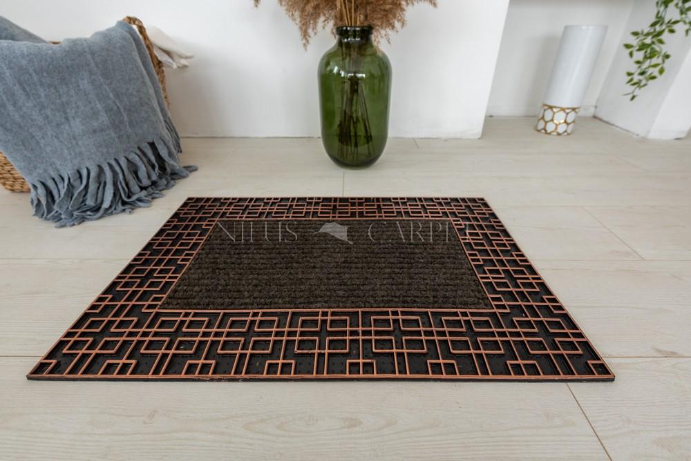 Labirintus keretes bronz szürke lábtörlő 45x75cm