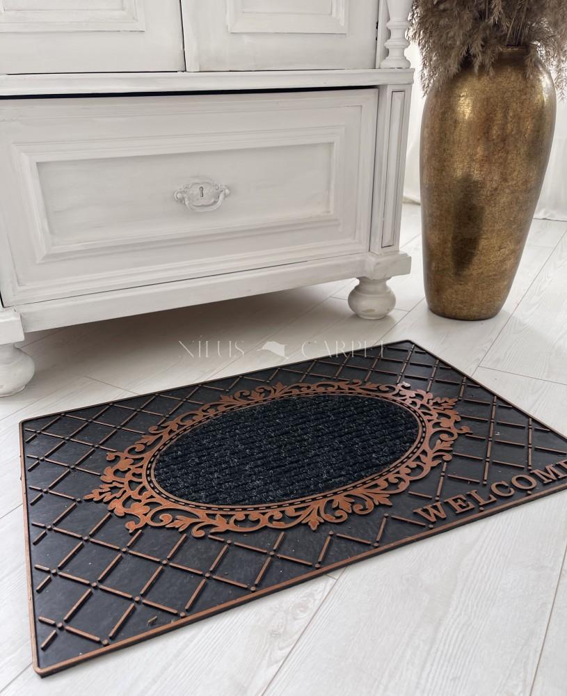 Loft Design Welcome bronz gumis lábtörlő 45x75cm