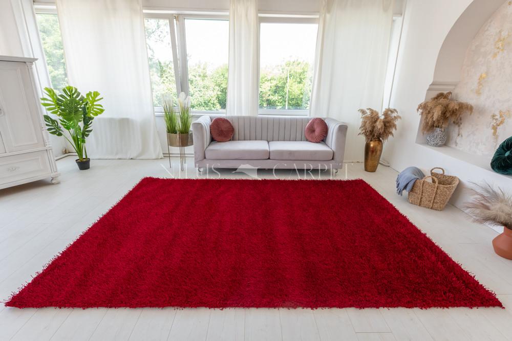 Luxury Shaggy 5cm Aleda Red 200x290cm