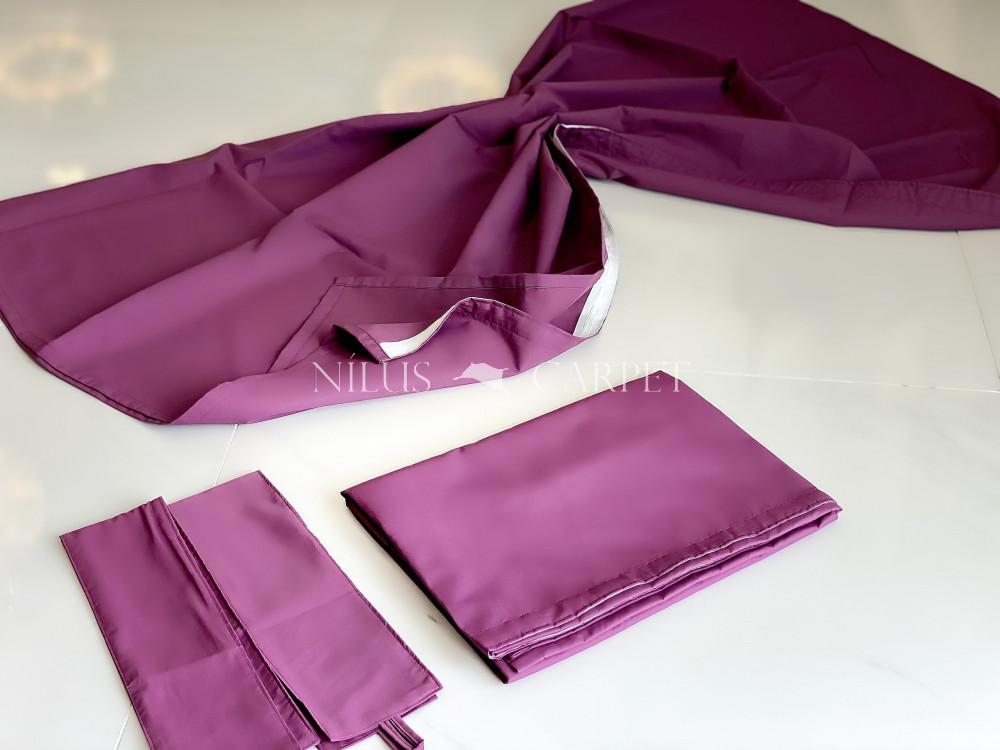 Luxury Kész Sötétítő  Pierre Purple (Lila) függöny design dekor felhajtópánttal 2db 140x180cm