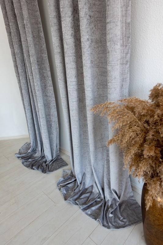 Shayenne Luxury Készre varrt bársony sötétítő függöny Silver gray  ( Ezüst szürke )  2db 160x270cm