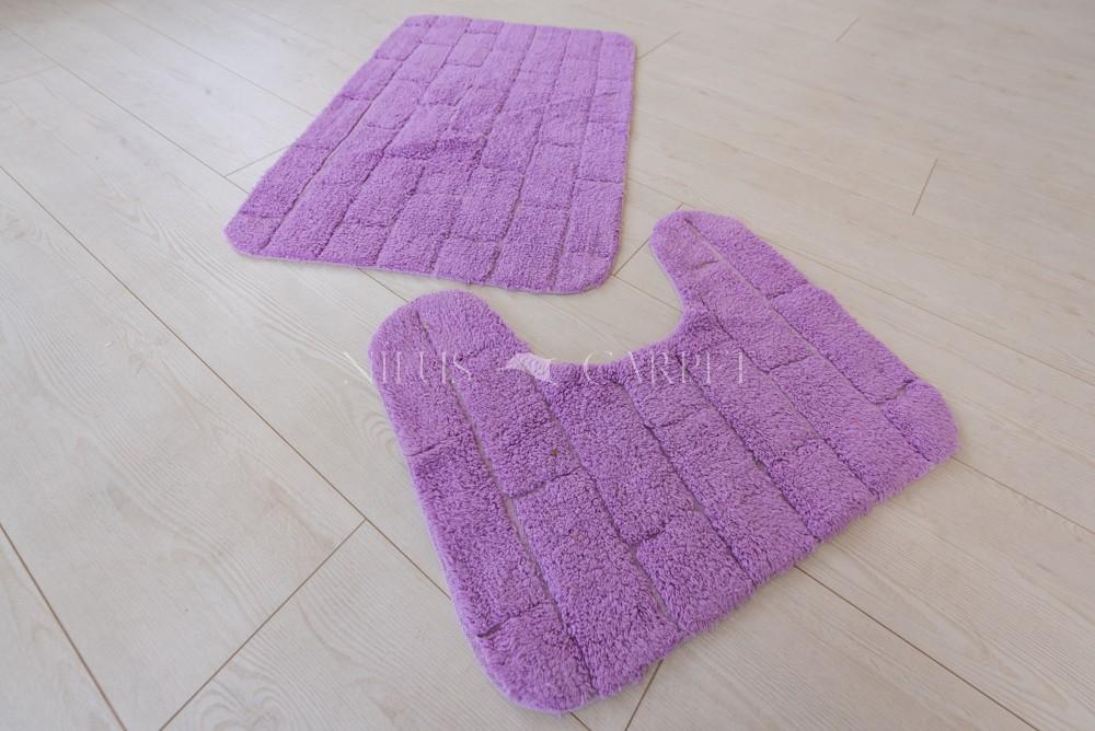 Mandalay India pamut lila fürdőszoba szőnyeg  2 részes 50x80cm