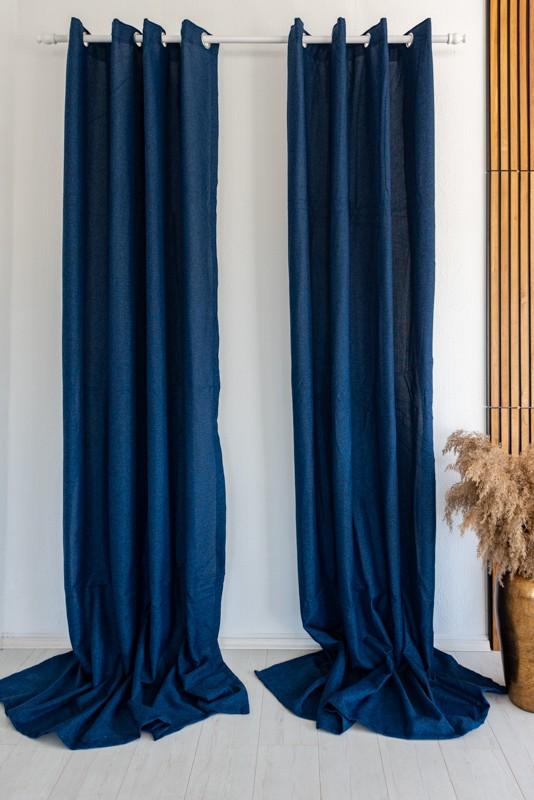 Moderno Shayen Sötétítő függöny Dark Blue ( Sötétkék )  2db 160x270cm