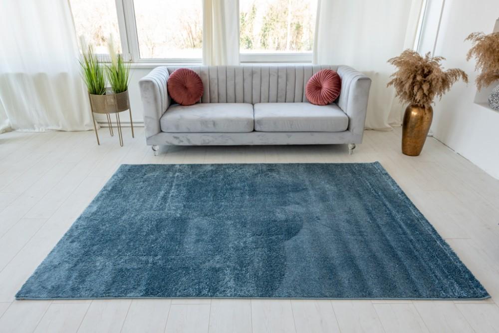 Trend egyszinű blue (kék) szőnyeg 200x290cm