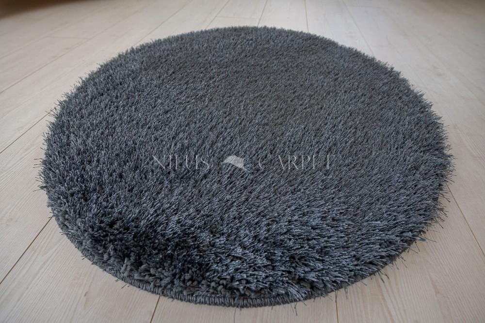 Natty Shaggy Antracit Carpet (sötét szürke) kerek szőnyeg 80cm