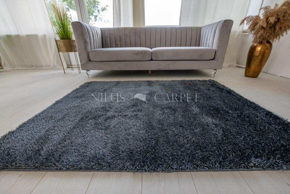 Natty Shaggy Antracit Carpet (sötét szürke) szőnyeg 50x80cm