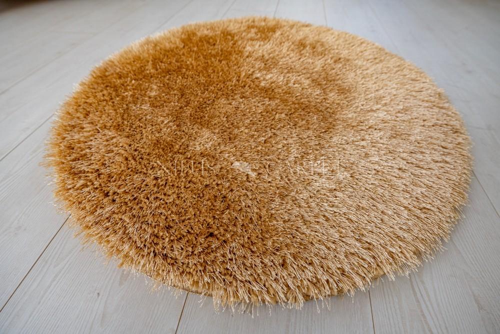 Natty Shaggy Beige Carpet (bézs) kerek szőnyeg 80cm