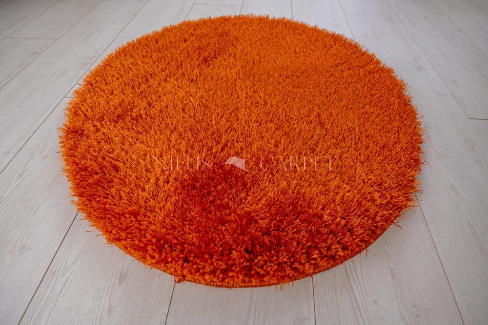Natty Shaggy Orange Carpet (narancs) kerek szőnyeg 80cm