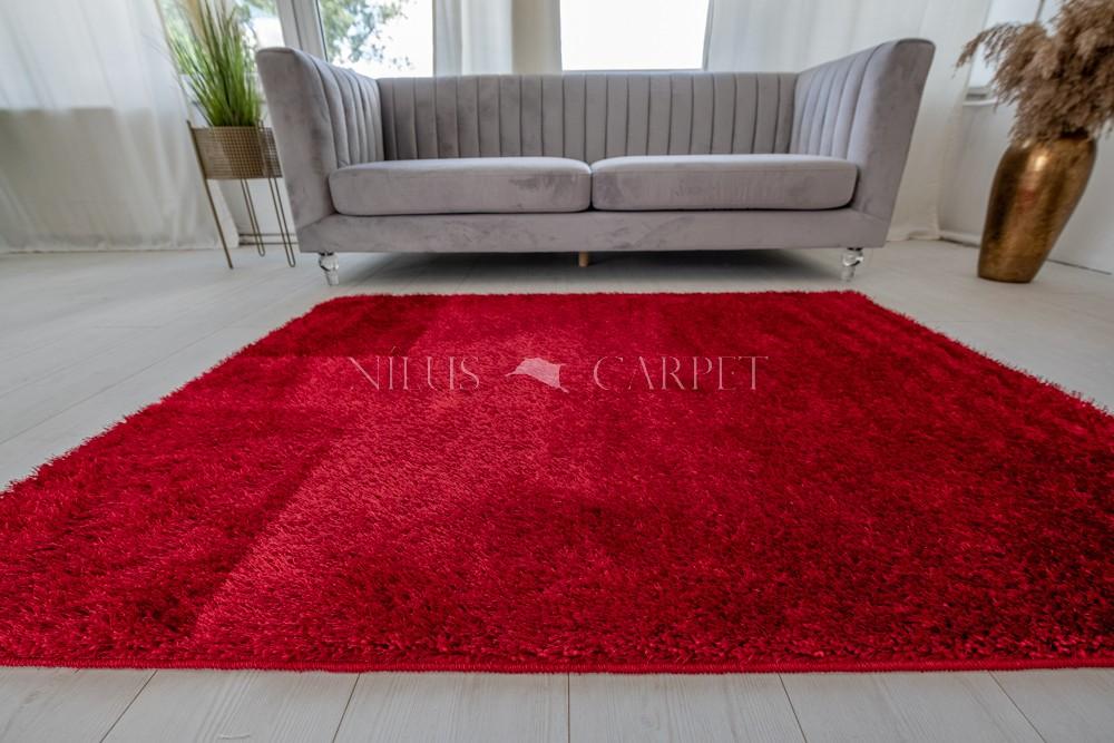 Natty Shaggy Red Carpet (piros) szőnyeg 50x80cm