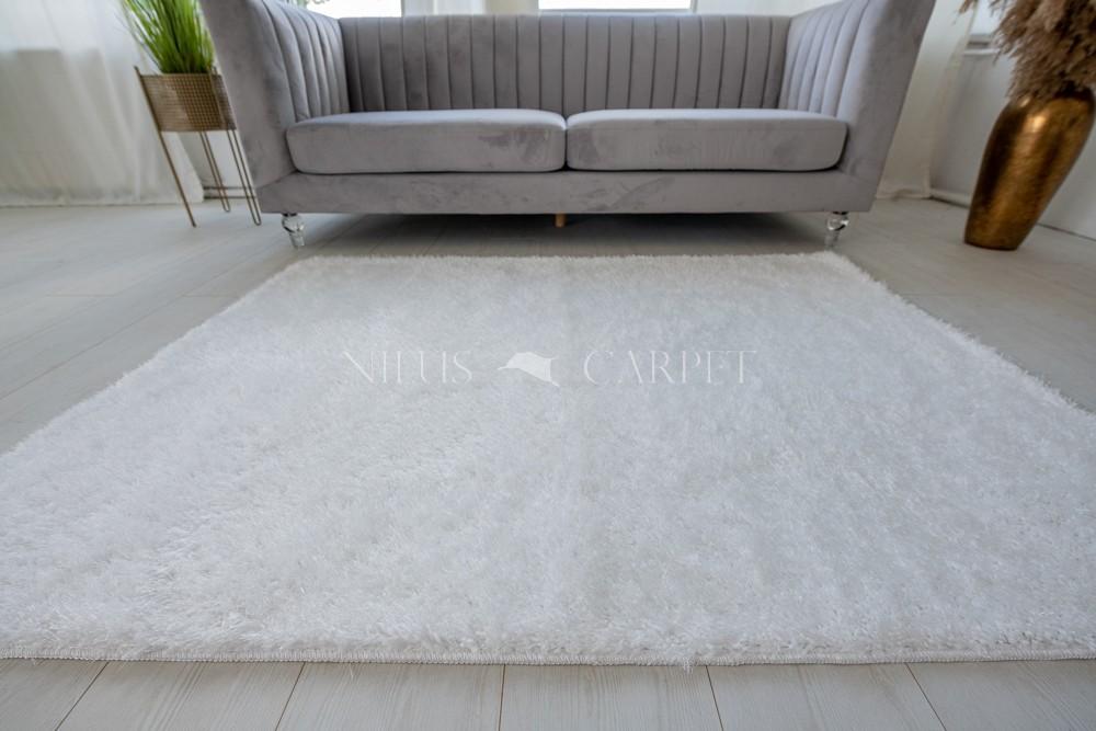 Natty Shaggy White Carpet (fehér) szőnyeg 50x80cm