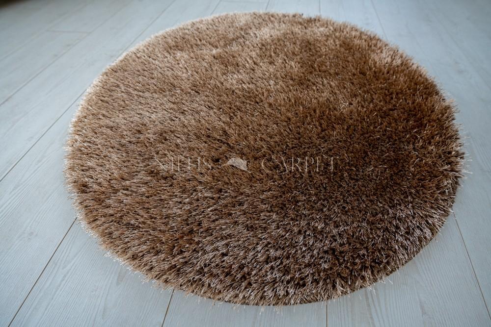 Natty Shaggy Camel Carpet (bézs-barna) kerek szőnyeg 100cm