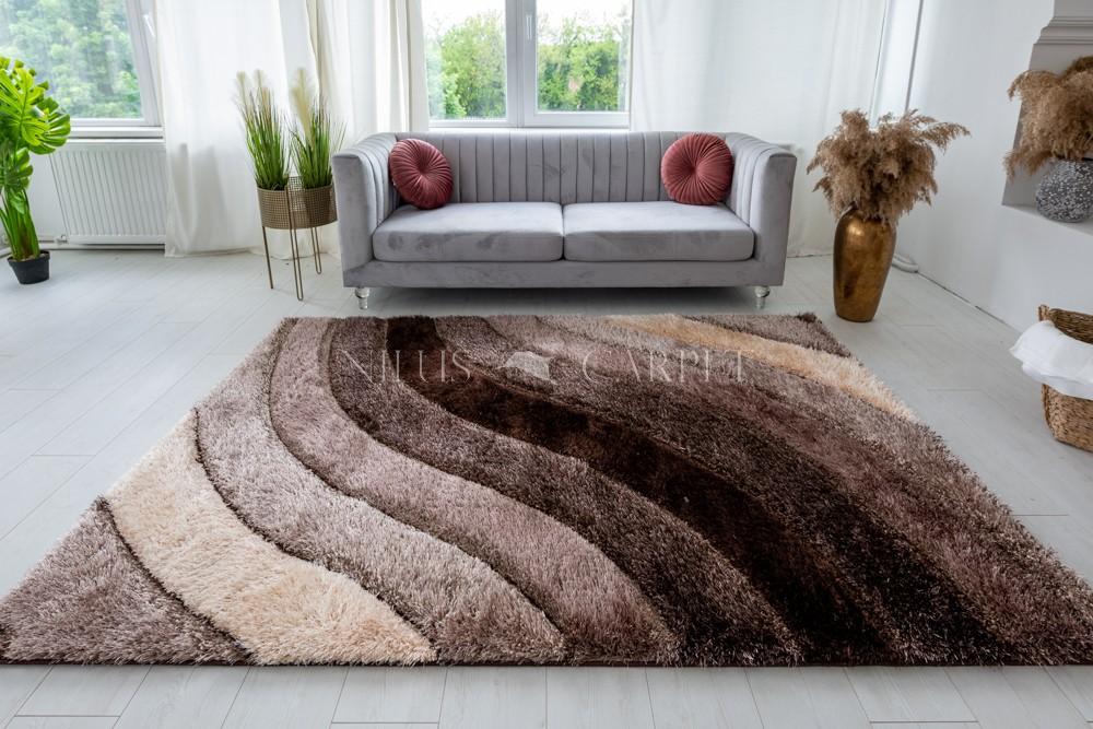 Pure Luxury 3d Morocco Brown beige szőnyeg 60x220cm