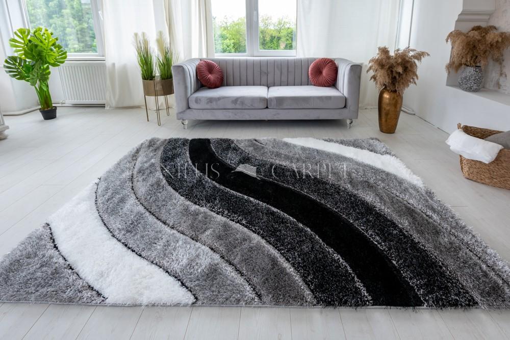 Pure Luxury 3d Morocco Gray White szőnyeg 200x290cm