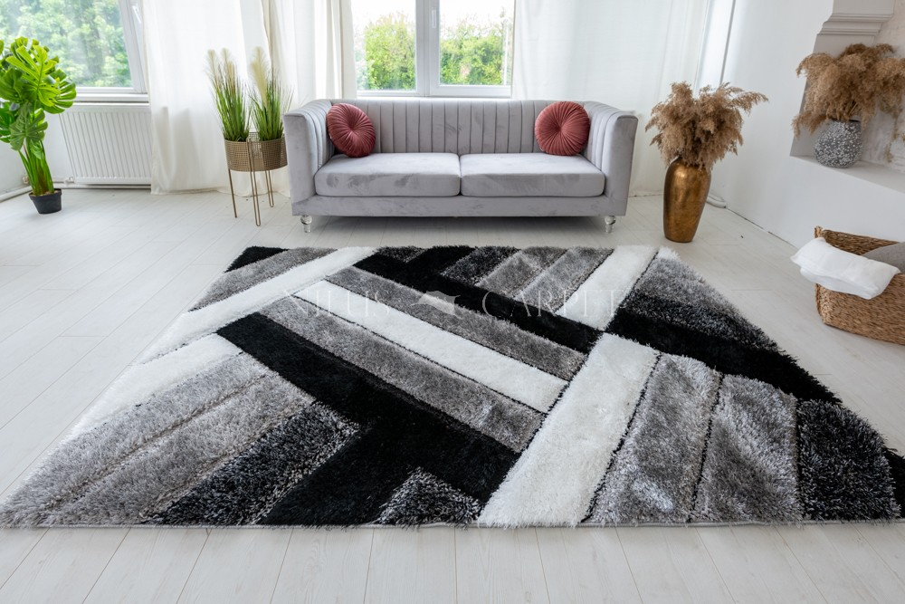 Pure Luxury 3d Madrid Gray white szőnyeg 60x110cm