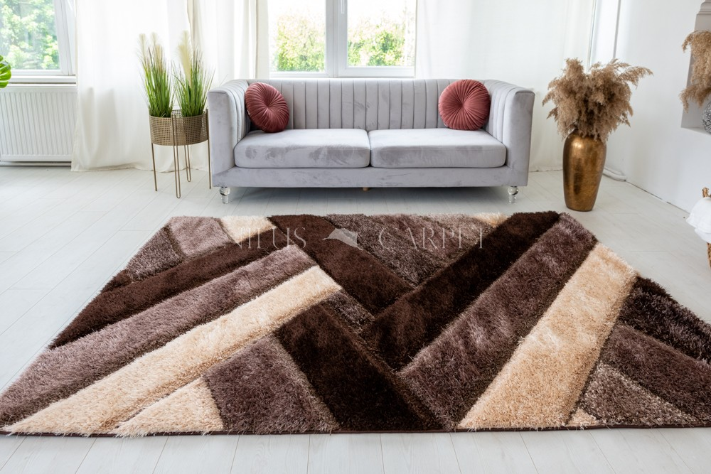 Pure Luxury 3d Madrid Brown beige szőnyeg 200x290cm