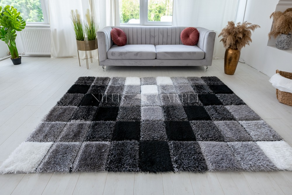 Pure Luxury 3d Tokyo Gray white szőnyeg 80x250cm