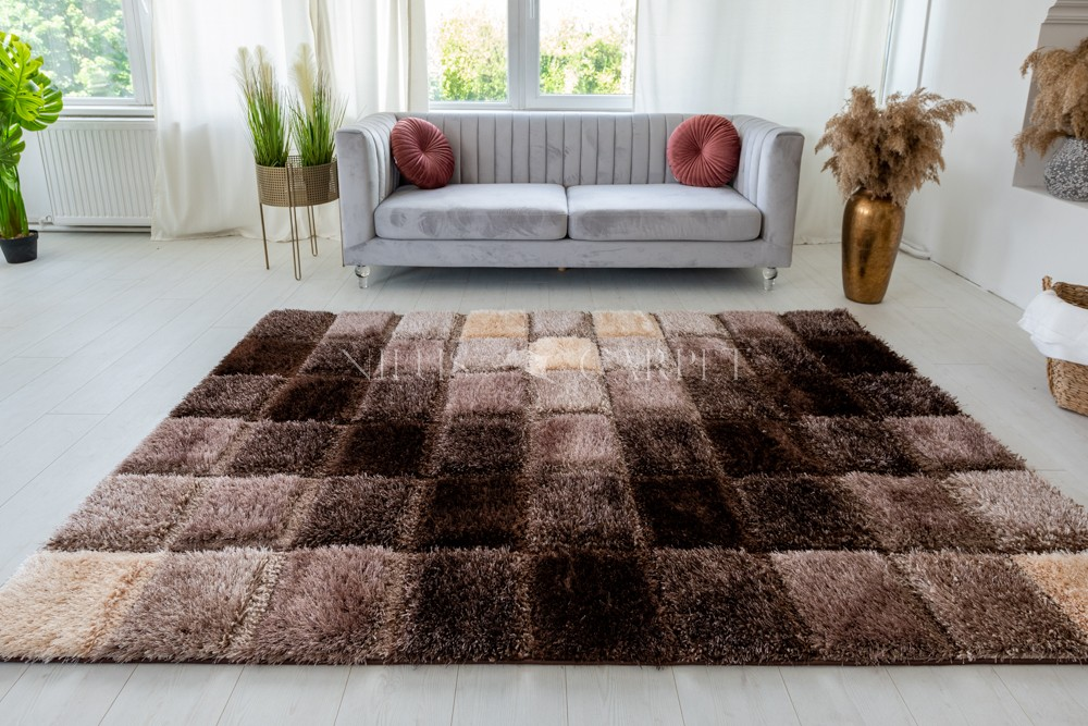 Pure Luxury 3d Tokyo Brown szőnyeg 200x290cm