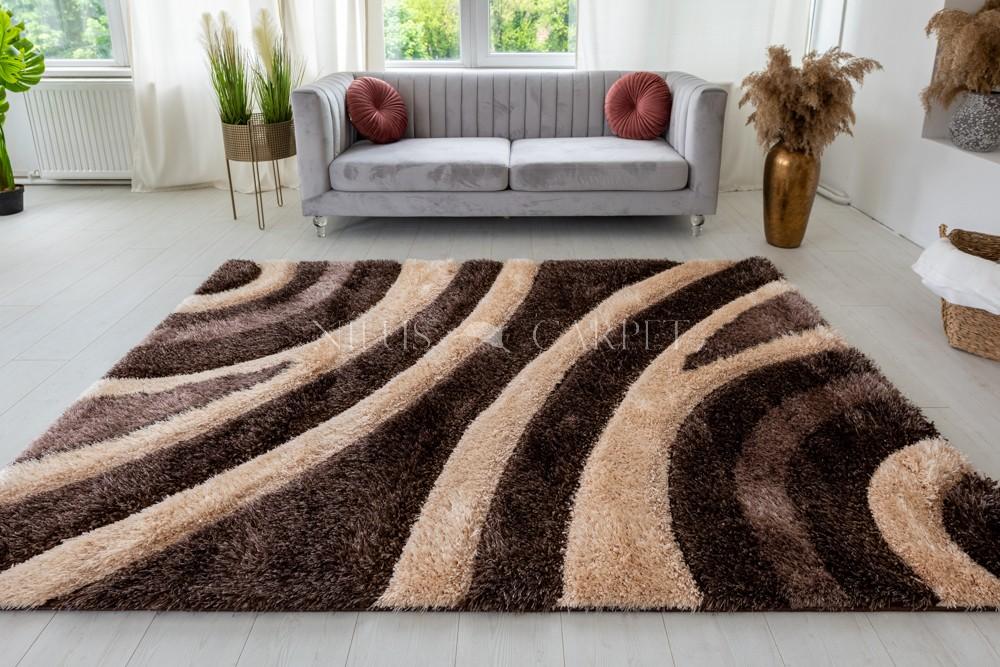 Pure Luxury 3d Damaskus Brown beige szőnyeg 200x290cm